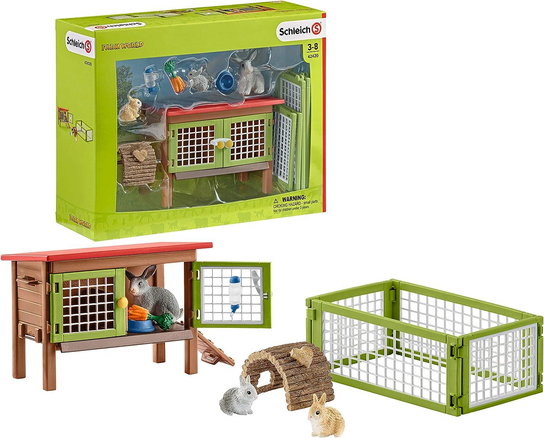 Schleich-42420 Jaula para Conejos (42420)