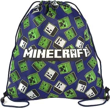 Minecraft Creeper Zombie Esqueleto todo la impresión bolsa con cordón Swim: Amazon.es: Ropa y accesorios