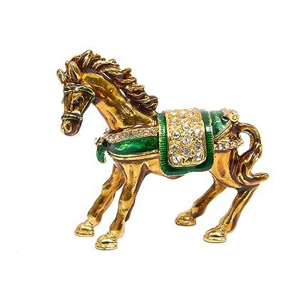 amazon com qifu hand painted enameled horse style decorative hinged