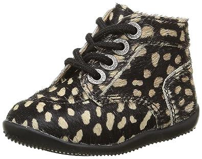 Kickers Bonbon, Chaussures Premiers Pas Bébé Mixte , Noir (Noir/Beige) ,