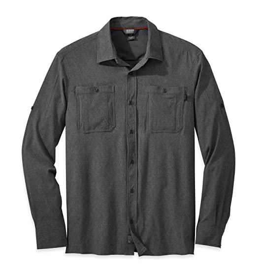34fc153cae44 Amazon.com  Outdoor Research Men s Wayward Sentinel L S Shirt  Clothing