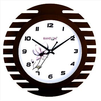 Buy Random Wings Ultra Wooden Wall Clock Brown Online at Low