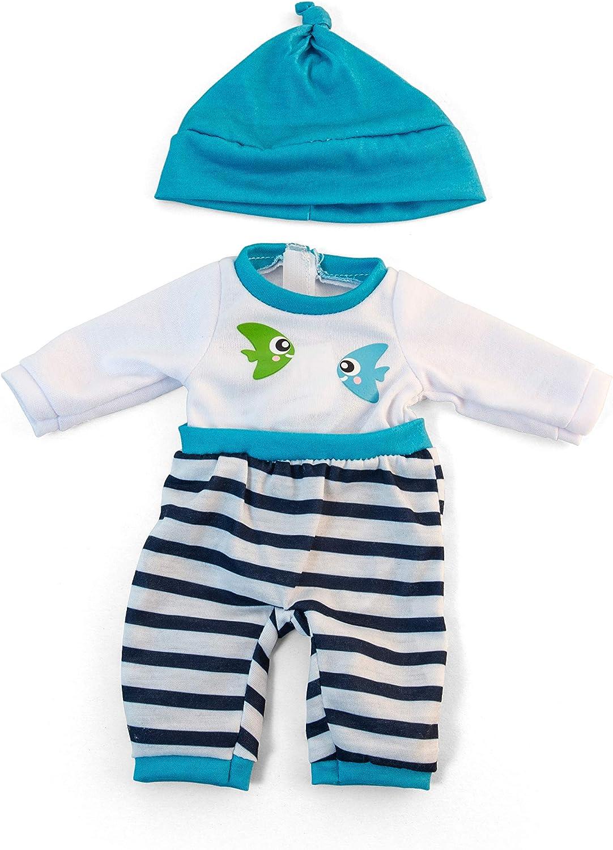 "Clothing for 12 5//8/"" Anatomically Correct Dolls Miniland Educational Cold Weather Turquoise Pajamas"