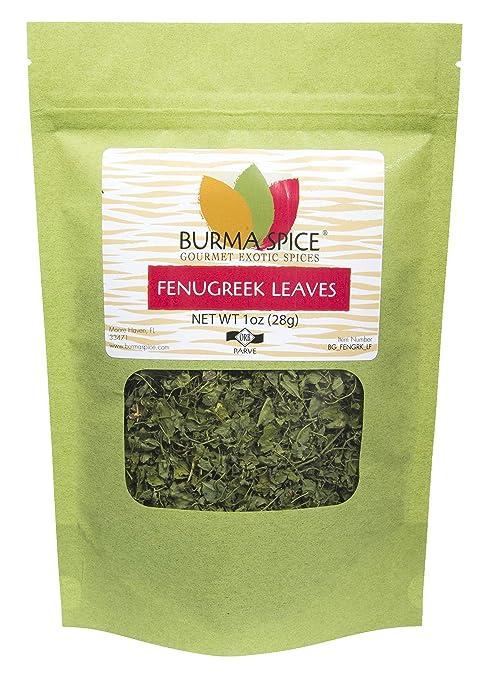 Dried Fenugreek Leaves ( Kasoori Methi) | Kosher Certified | Fresh Crop and 100% Pure (1 oz.)