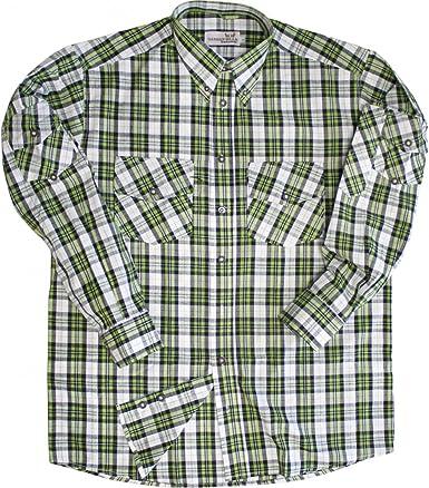 Caza Camisa Camisa para Caza krempel Mangas Verde/Blanco a Cuadros Grün/Kariert 46: Amazon.es: Ropa y accesorios