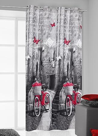gardinen rot grau lilashouse. Black Bedroom Furniture Sets. Home Design Ideas