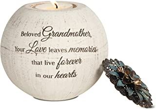 Pavilion Gift Company 19092 Beloved Grandmother Terra Cotta Candle Holder, 4-Inch