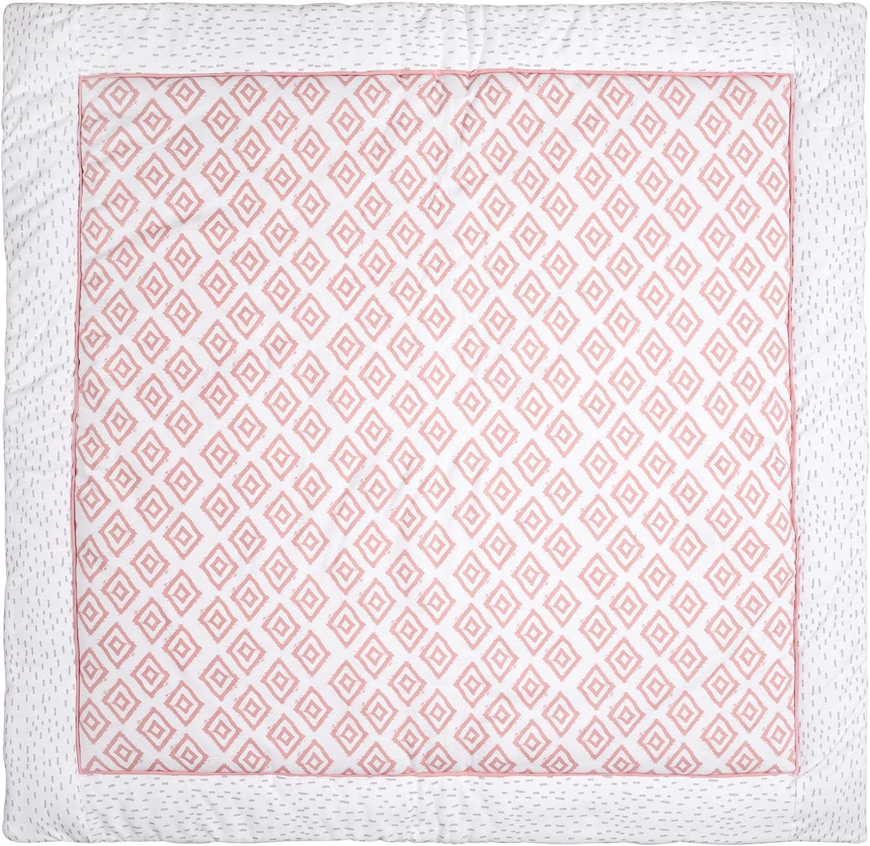 fond//tapis de parc enfant endredon emma /& noah tapis b/éb/é tapis deveil 120 x 120 cm Rose id/éal comme couverture pour b/éb/é tapis de jeux//sol plaid souple et bien rembourr/é