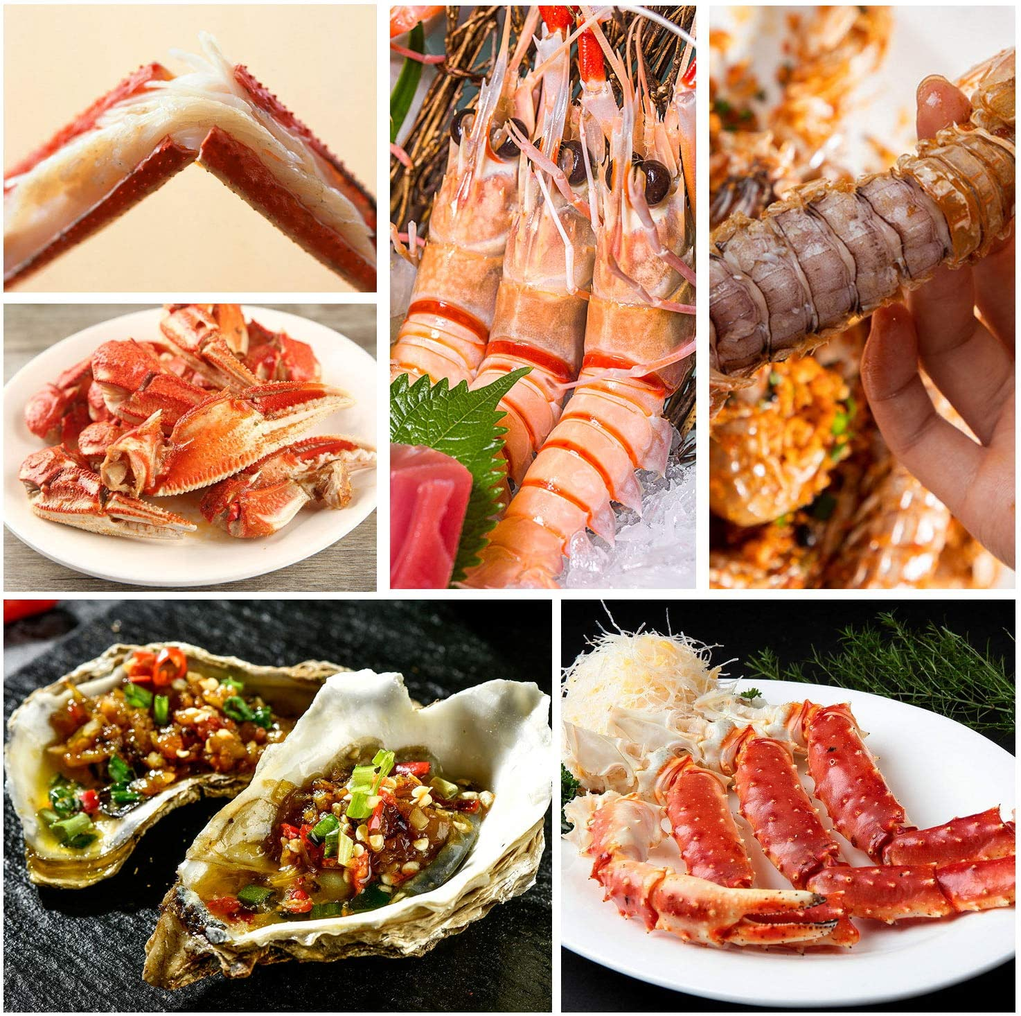 2 Crab Crackers 2 Stainless Steel Forks 1 Storage Bag 2 Seafood Scissors 9Pcs Seafood Tools Set Shellfish Lobster Crab Leg Sheller Nut Crackers Opener 2 Lobster Shell Knife
