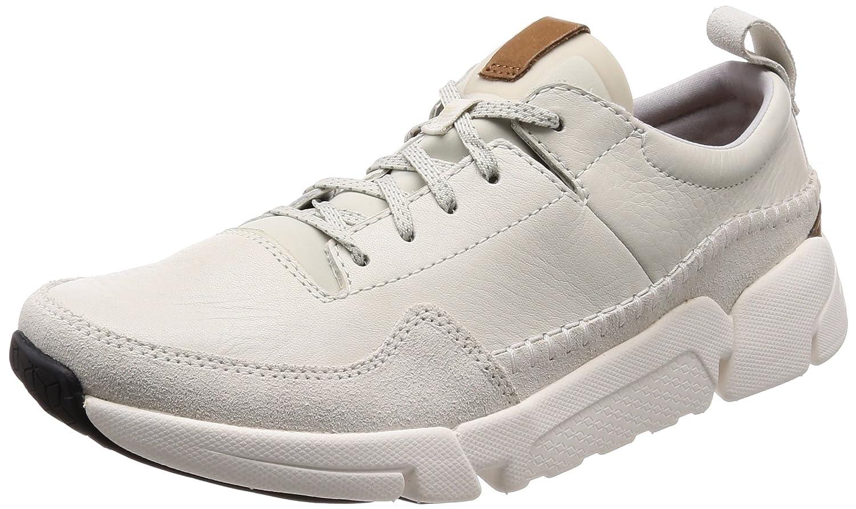Clarks Triactive Run, Zapatillas para Hombre 39.5 EU|Blanco (White Leather)