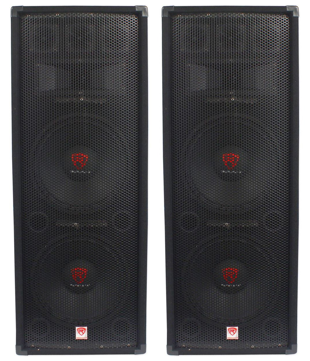"(2) Rockville RSG12.28 Dual 12"" 2000 Watt 8-Ohm Passive Pro Audio PA Speakers"