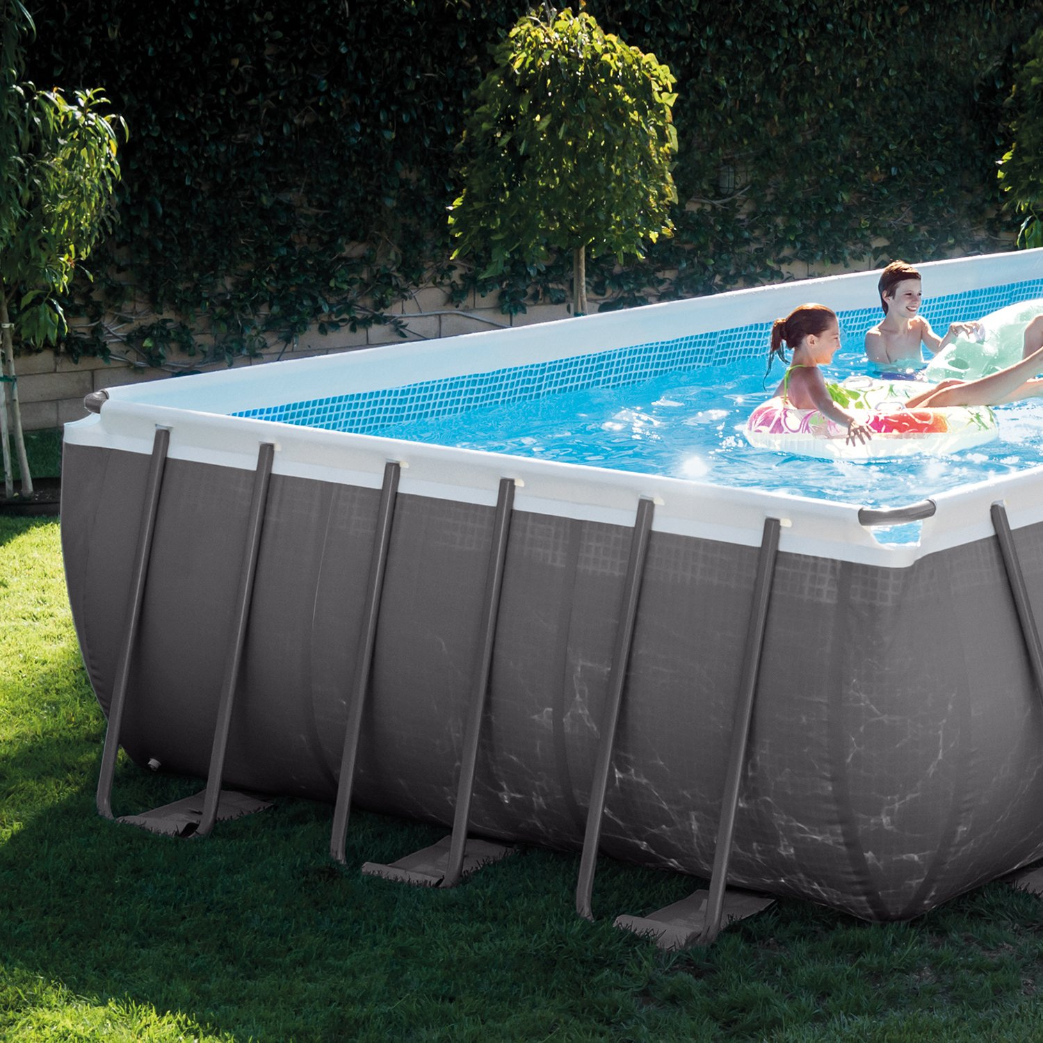 Amazon.com : Intex Rectangular Ultra Frame Pool Set, 24-Feet by 12 ...