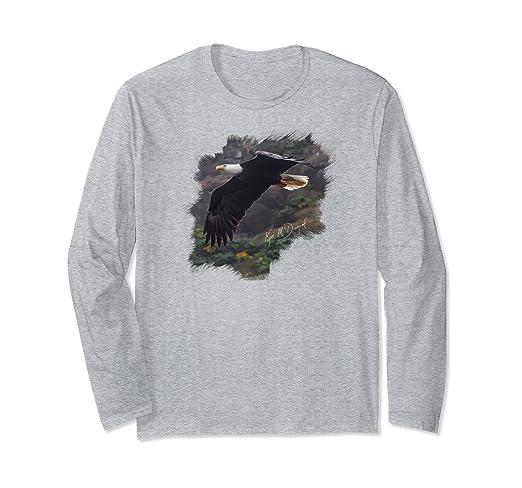 Eagle in Flight Long-sleeved T-Shirt