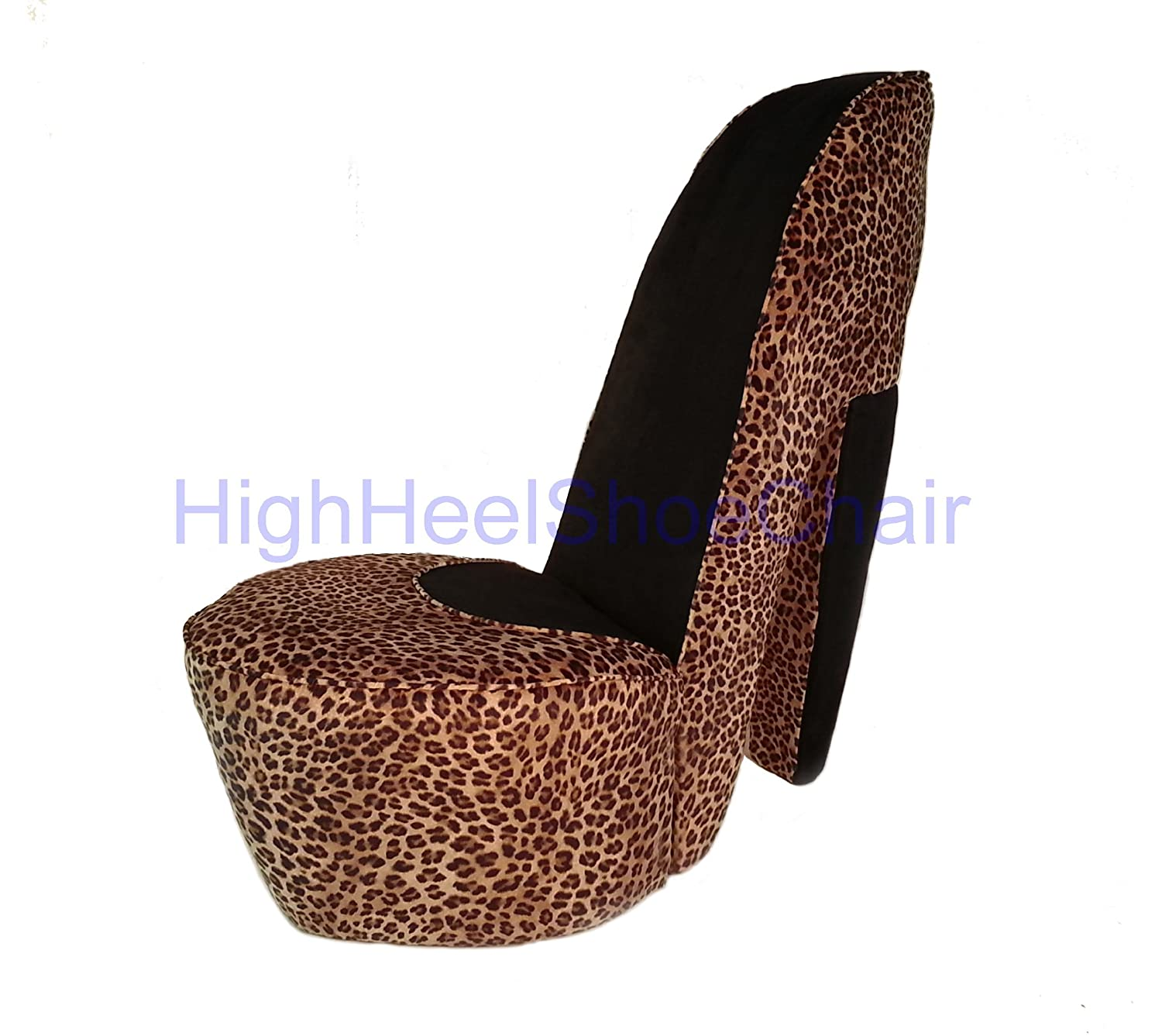 Amazon Leopard High Heel Shoe Chair Kitchen & Dining