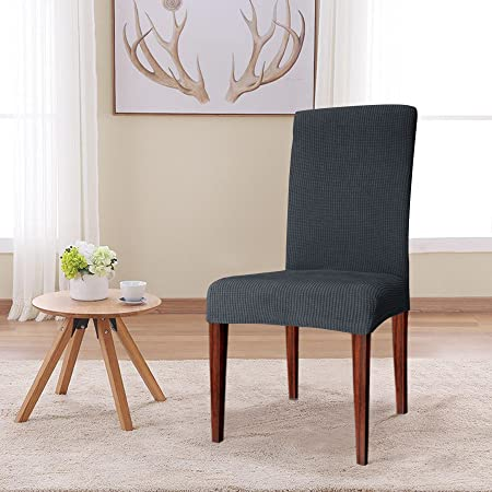 CHUN YI Jacquard Polyester Spandex Fabric Dining Chair Covers Slipcovers Stretch 2 PCS