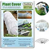 Kasbon Plant Covers Freeze Protection & Plant Blanket Fabric 8Ft x 26Ft Rectangle Plant Cover for Winter Frost…