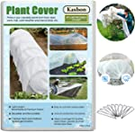 Kasbon Plant Covers Freeze Protection & Plant Blanket Fabric 8Ft x