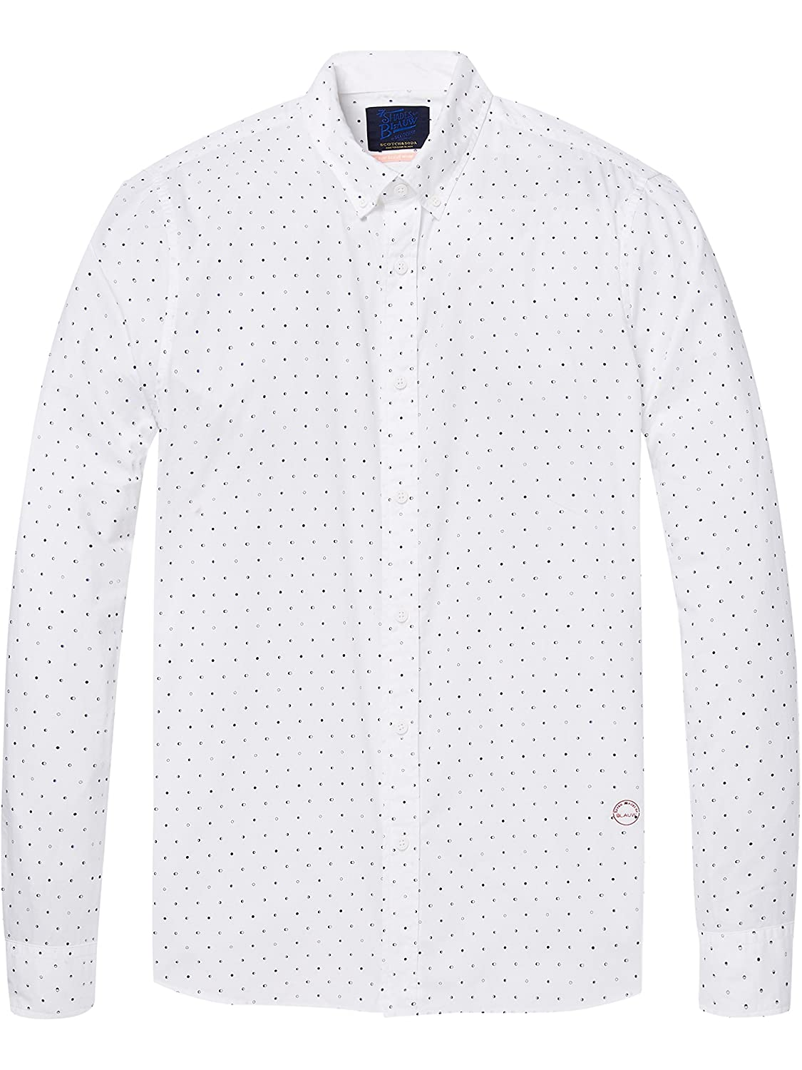Scotch & Soda AMS Slim Fit Simple Lightweight Printed Camisa para Hombre