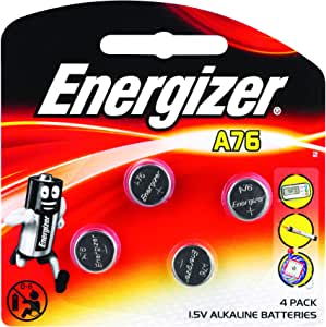 Energizer A76 Miniature Electronic Battery, Pack of 4