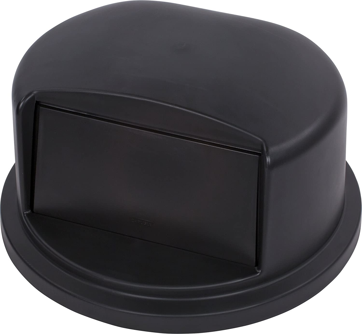 "Carlisle 34103403 Bronco Polyethylene Round Dome Lid, 22.84"" Diameter x 12.21"" Height, Black, for 32 Gallon Trash Containers"