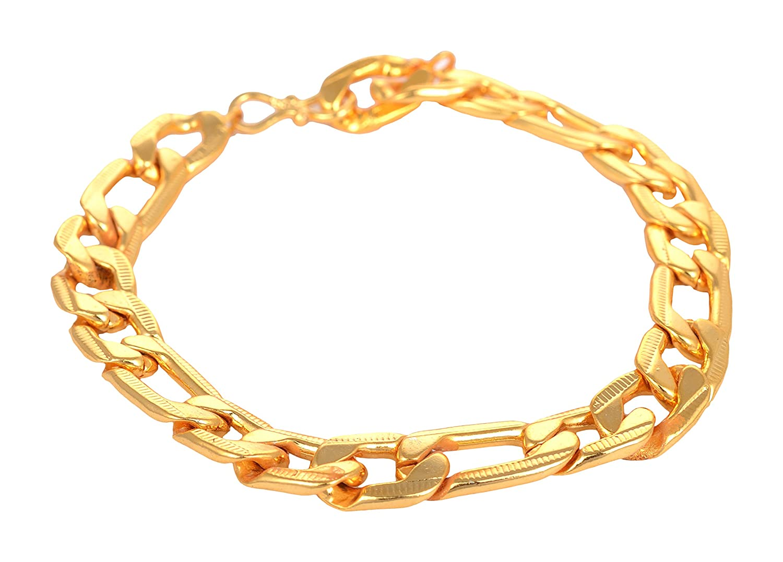 95bcf3248da ARAFA Jewelry Gold Alloy Bracelet for Men(AZ41)/Gold Plated/Latest Design/Attractive  Look: Arafa jewellery: Amazon.in: Jewellery
