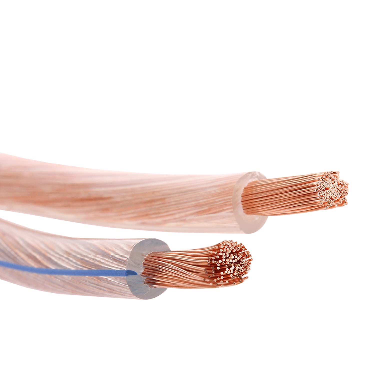 cable de cobre 99,99 /% OFC cord/ón: 2 x 132 x 0,2 mm Misterhifi Cable para altavoces de 20 m 2 x 4,0 mm/² cable para bafles // cable para audio para altavoces y home cinema Made in Germany aislamiento transparente