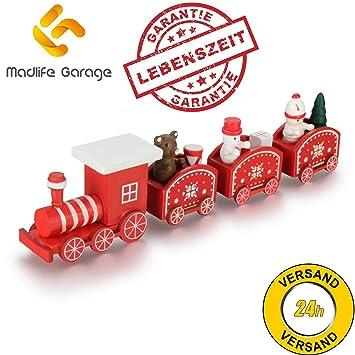 Weihnachtsdeko Roller.Madlife Garage Weihnachtszug Eisenbahn Weihnachtsmann Holz