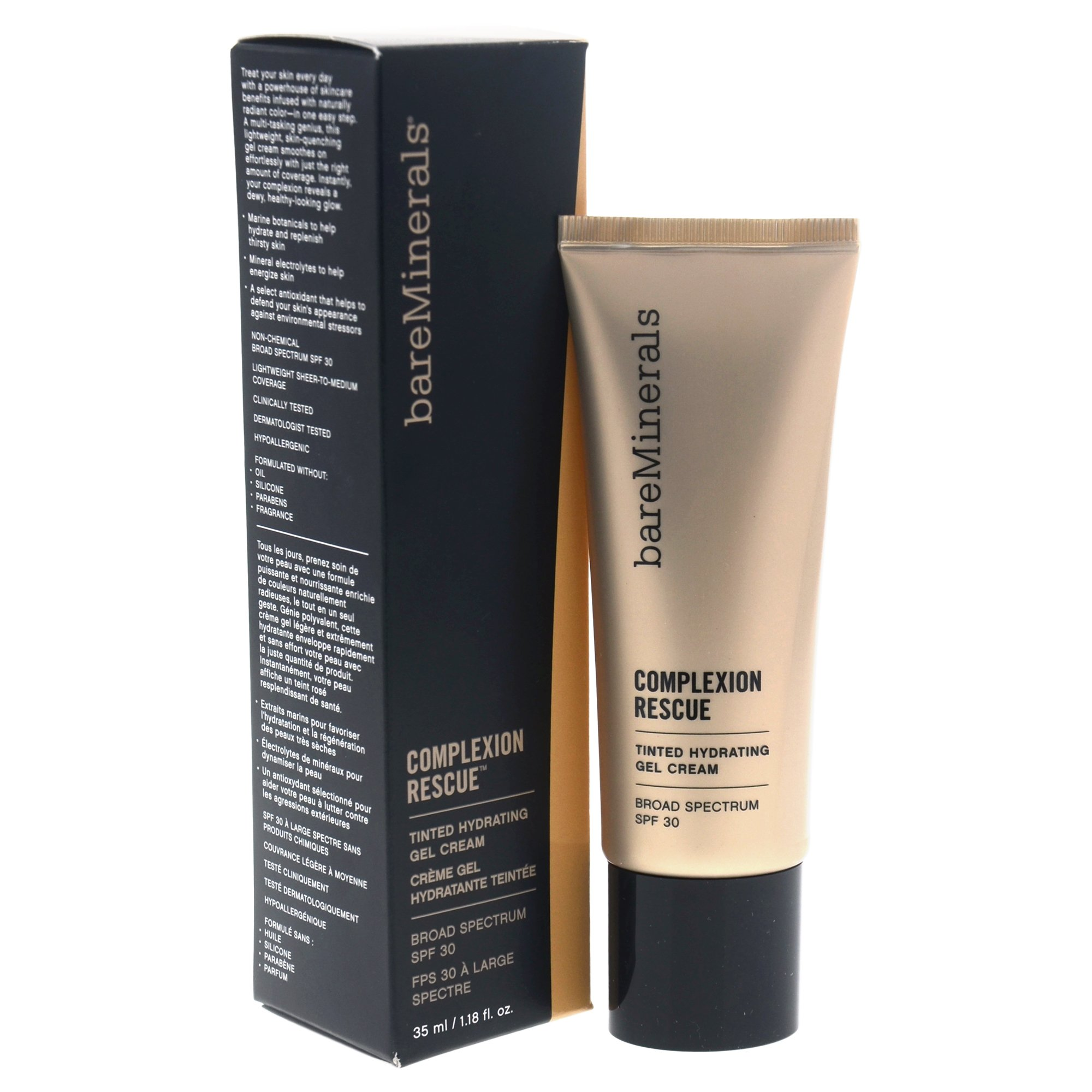 bareMinerals Complexion Rescue Tinted Hydrating Gel Cream-Desert 6.5 ClearZine Acne Solution - The Best Natural Acne Pills with Pantothenic Acid, 90 Capsules