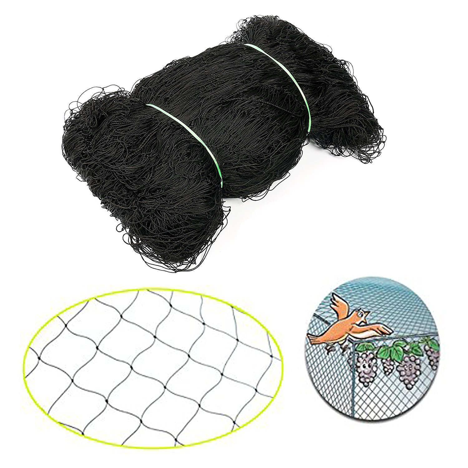 Baikalo 50' X 50' Net Netting for Bird Poultry Aviary Game Pens New 2.4'' Square Mesh Size