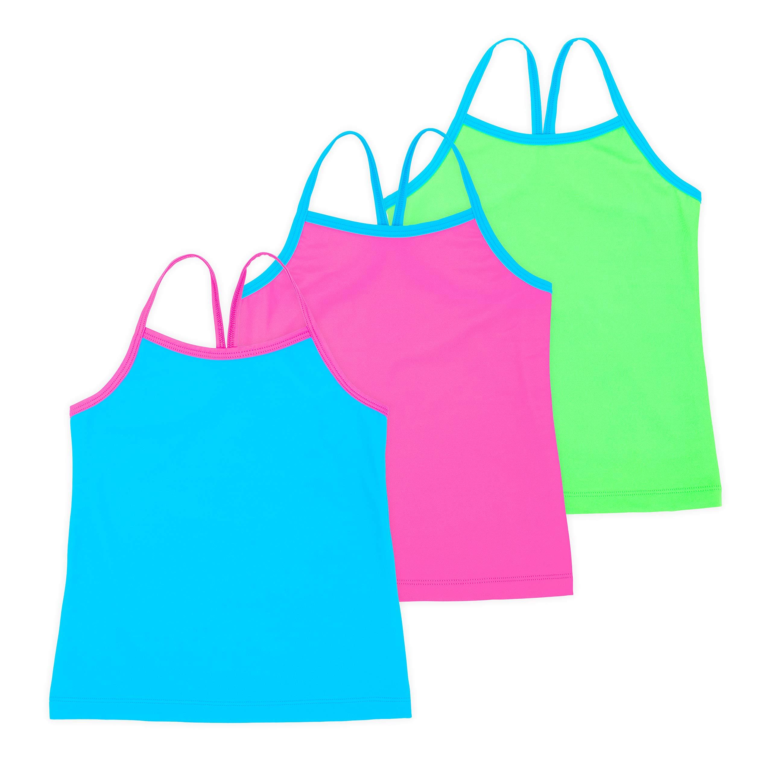 Lucky & Me Ella Girls Dance Tank Top, Gymnastics & Dancewear, 3-Pack, Spring Bouquet 6