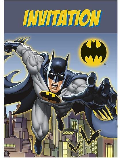 Coolmp Juego De 3 Tarjetas De Invitación De Batman Tamaño