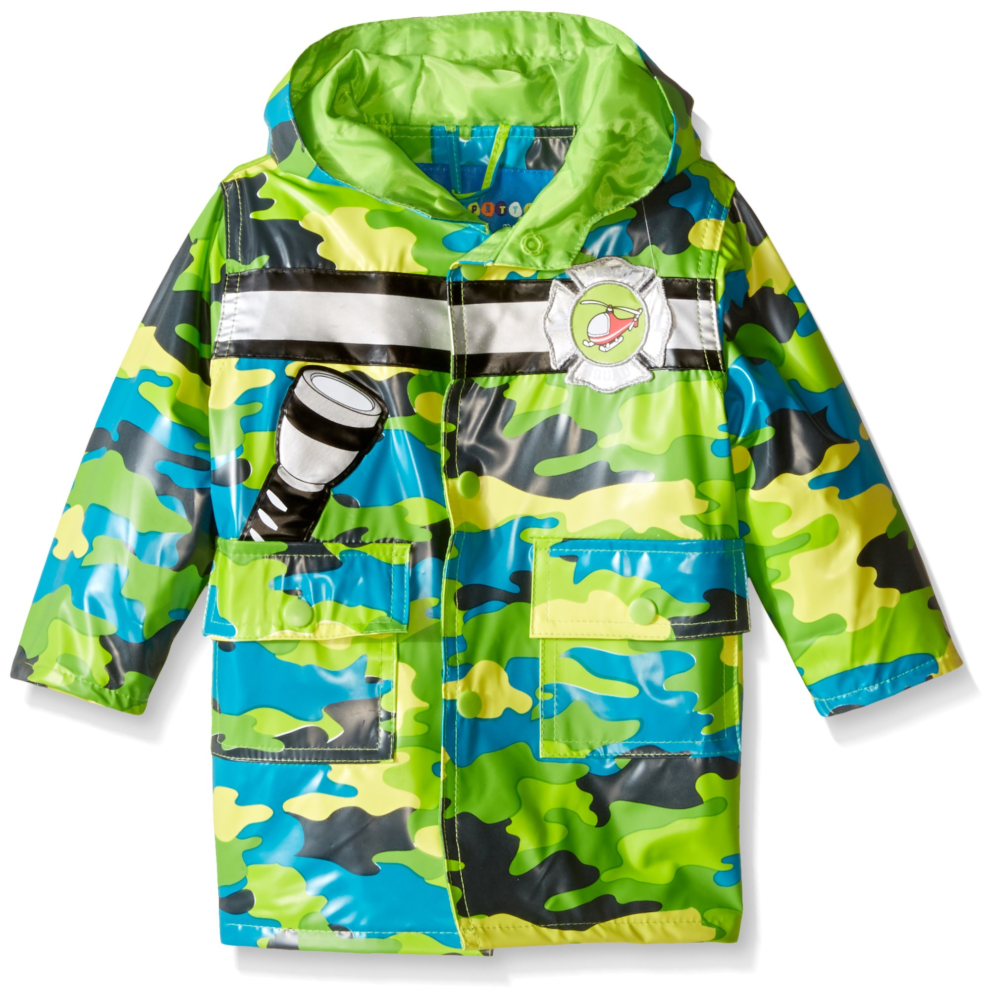Wippette Baby Boys' Camo with Chopper Rainwear, Gecko, 24 Months by Wippette