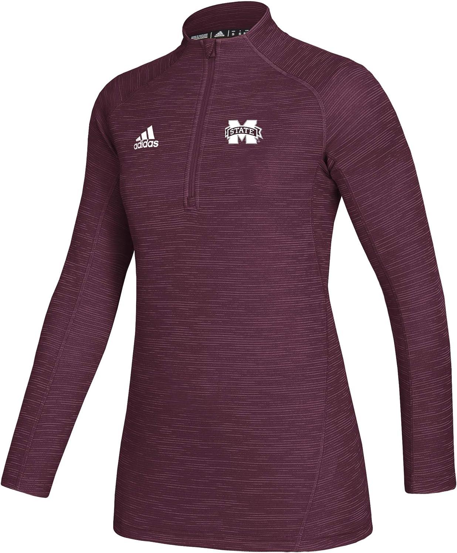 adidas NCAA womens Locker Room Game Mode Long Sleeve Knit 1//4 Zip
