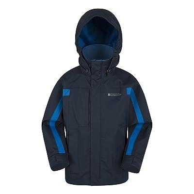 Mountain Warehouse Veste Samson enfants - Poignets réglables, poches, veste enfant à capuche réglable, coutures soudures & imperméables - Manteau toutes saisons parfait pour l'hiver
