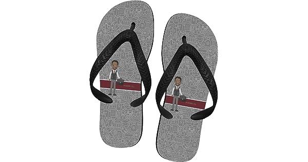 852316f856a7 YouCustomizeIt Lawyer Attorney Avatar Flip Flops - Medium (Personalized)