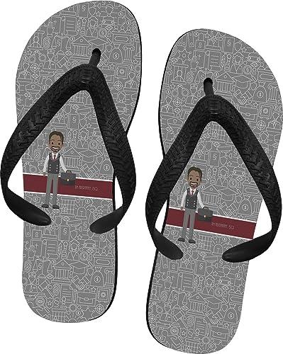 98d754502221 YouCustomizeIt Lawyer Attorney Avatar Flip Flops - XSmall (Personalized)  Grey