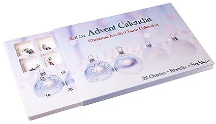amazon com red co christmas advent charm calendar with 1 bracelet
