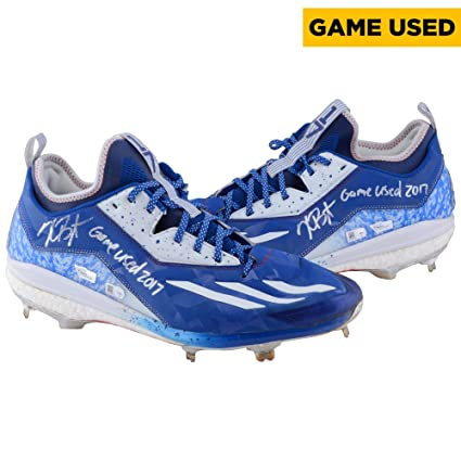 Kris Bryant Chicago Cubs Autographed Game-Used Blue and White Cleats from  the 2017 MLB 0178fb0fd