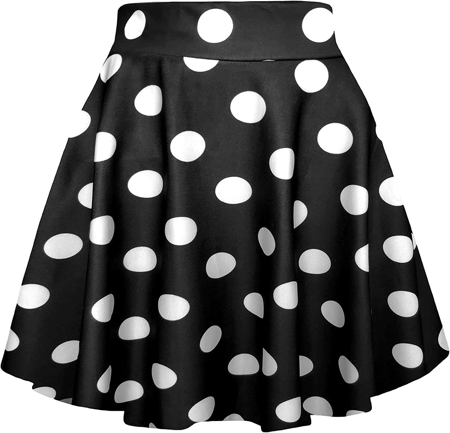 Afibi Casual Mini Stretch Waist Flared Plain Pleated Skater Skirt at  Women's Clothing store