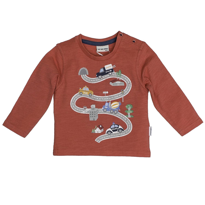 SALT AND PEPPER Baby-Jungen B Longsleeve Just Cool Print Langarmshirt