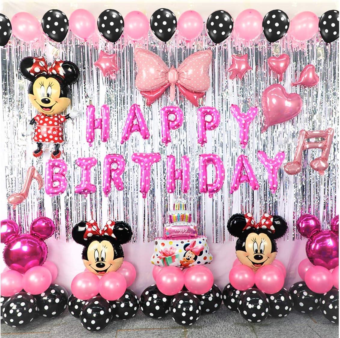 Amazon.com: Minnie Theme Mouse Decoración de fiesta de ...