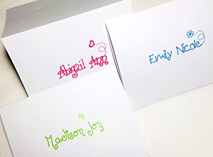 Tarjetas de notas personalizadas para niños. Tarjetas plegables ...