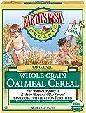 Earth's Best 有机婴儿全谷物燕麦片,8盎司(227克)(12件装) - 包装可能有所不同