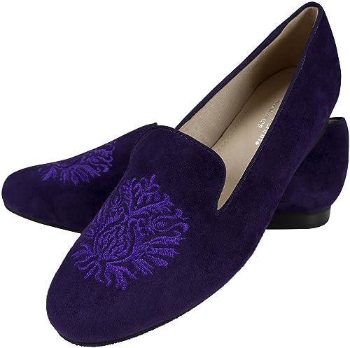 Shirin Sehan - Mocasines de Piel para Mujer Morado Morado: Amazon.es: Zapatos y complementos