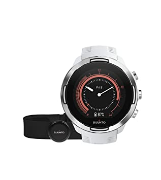 Suunto 9 Baro - Reloj Multideporte GPS, Unisex, Con cinturón de frecuencia cardíaca, Blanco, 24.5 cm: Amazon.es: Deportes y aire libre