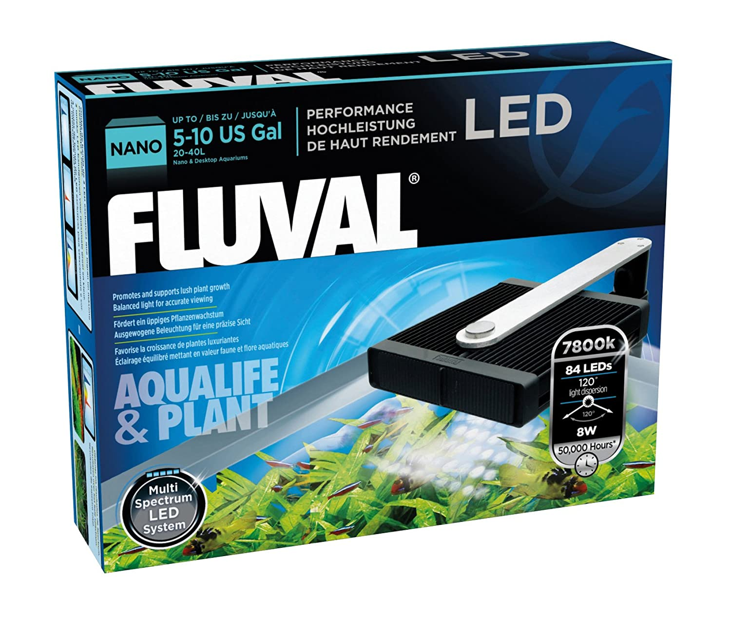 Nano led aquarium fish tank lighting - Amazon Com Fluval Nano Aqua Life And Plant Performance Led Lamp Aquarium Lights Pet Supplies