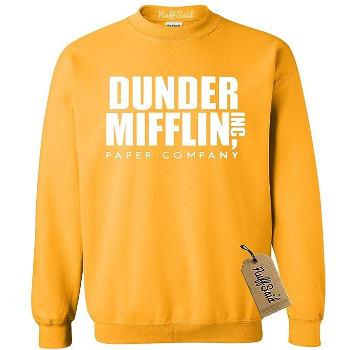 281cb4595e90ed NuffSaid Dunder Mifflin Crewneck Sweatshirt - Sweater - Premium Quality TV Shirt  Sweatshirt (XLarge,