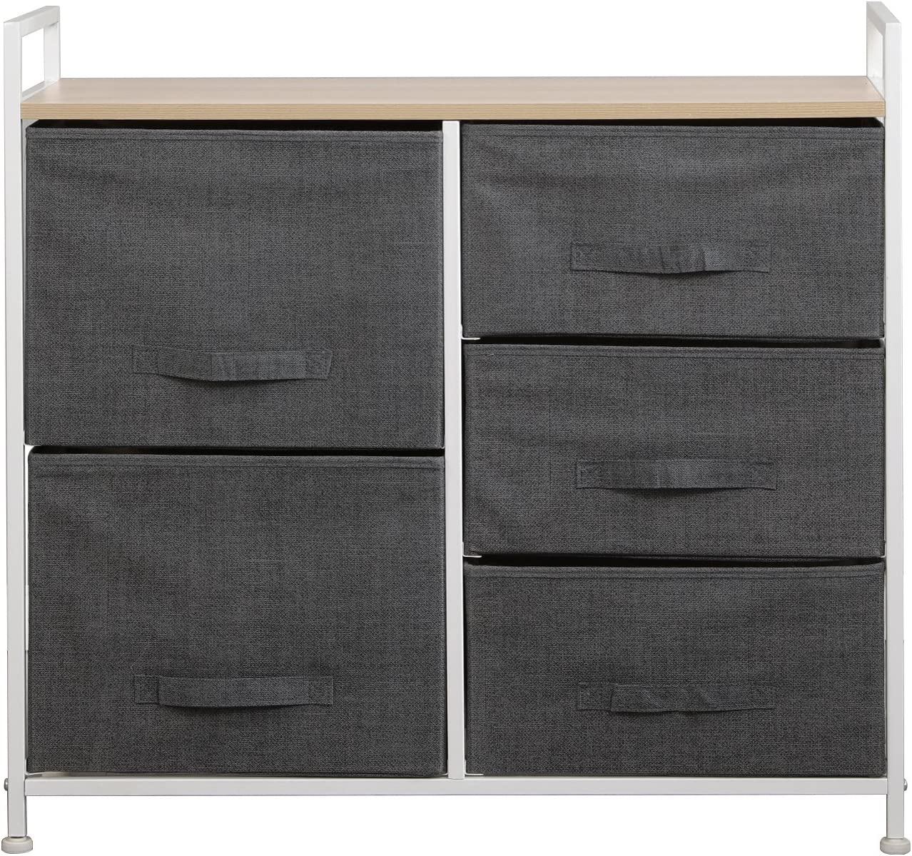 Soges Fabric 11-Drawer Storage Organizer Unit for Bedroom, or Play Room with  Fabric Bin Storage Unit,Grey 11-GY-CA