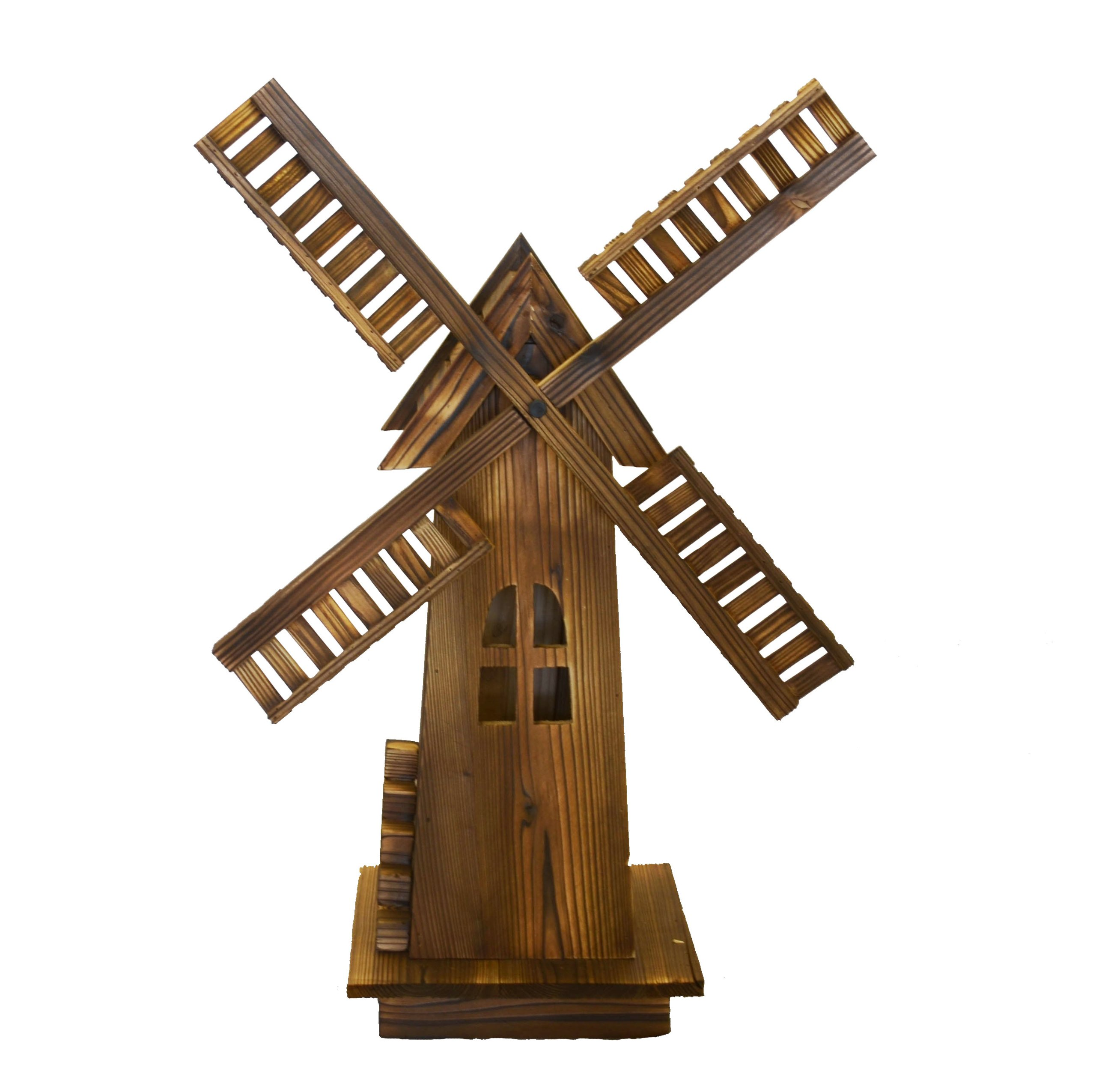 Wooden Dutch Windmill - Classic Old-fashioned Windmill For Garden, Patio Product SKU: PL50015