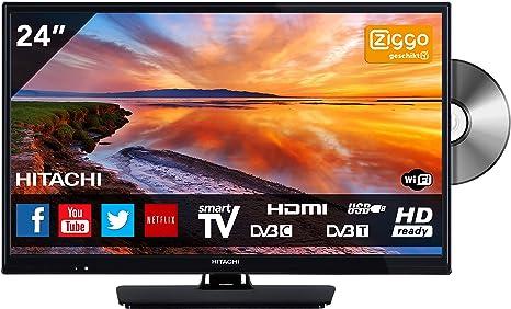 Hitachi 24HB4J65 TV 61 cm (24 Pulgadas) (HD Ready, sintonizador Triple, Smart TV, Reproductor de DVD, DVB-T2) [Clase energética A +]: Amazon.es: Electrónica